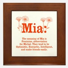 The Meaning of Mia Framed Tile