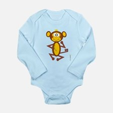 MONKEY Long Sleeve Infant Bodysuit