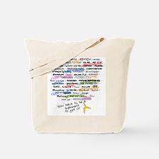 The Words of Gymnastics Tote Bag