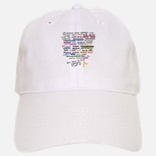 The Words of Gymnastics Baseball Baseball Cap
