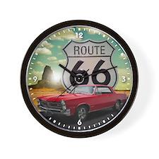 1965 Pontiac GTO - Route 66 - Clock Design Wall Cl