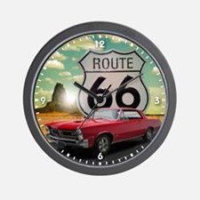 1965 Pontiac GTO - Route 66 - Clock Design Wall Cl