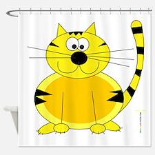 ORANGE FARM CAT Shower Curtain