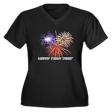 happynewyear-black Plus Size T-Shirt