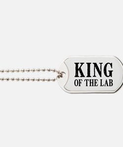 King of the Lab Dog Tags