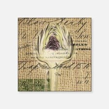 "french botanical artichoke  Square Sticker 3"" x 3"""