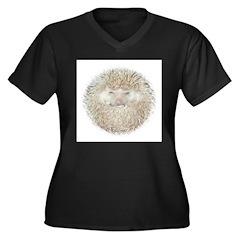 That Girl Women's Plus Size V-Neck Dark T-Shirt