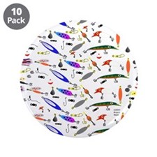 """Tackle Box Pattern 1 3.5"""" Button (10 pack)"""