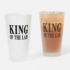 King of the Lab Drinking Glass