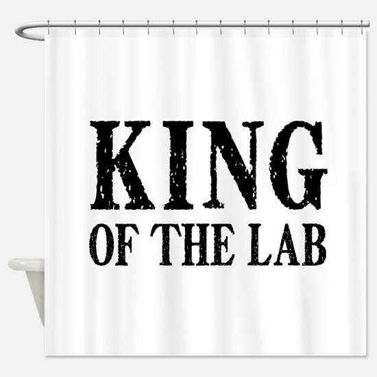 King of the Lab Shower Curtain
