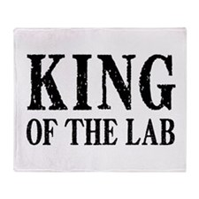 King of the Lab Throw Blanket