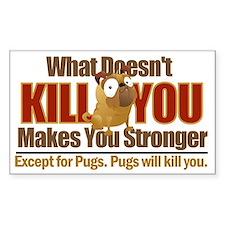 Dangerous Pug Decal