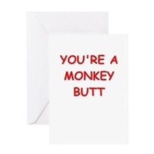 monkey butt Greeting Cards
