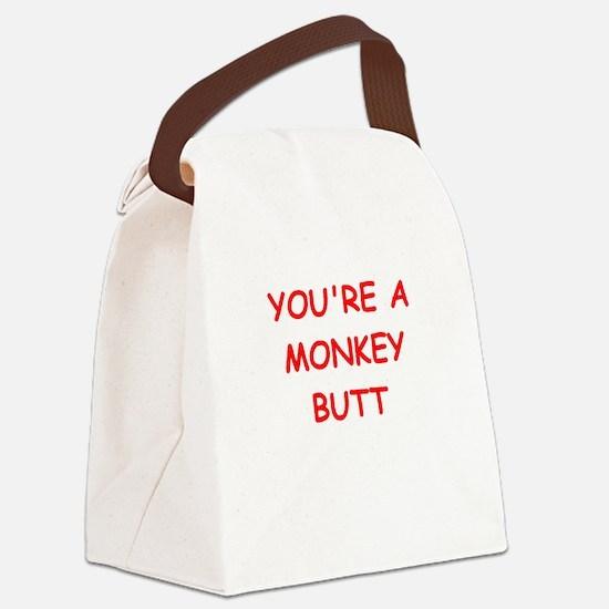 monkey butt Canvas Lunch Bag