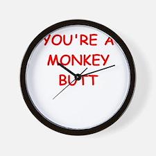 monkey butt Wall Clock