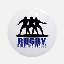 Rugby Rule The Field Ornament (Round)