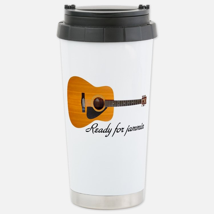 acoustic guitar ready f Stainless Steel Travel Mug