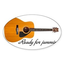 acoustic guitar ready for jammin Decal
