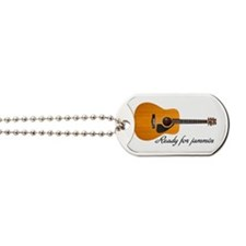 acoustic guitar ready for jammin Dog Tags