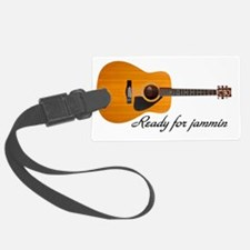 acoustic guitar ready for jammin Luggage Tag
