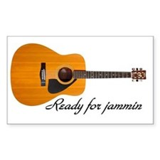 acoustic guitar ready for jamm Decal