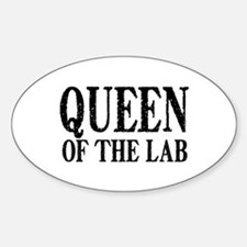 Queen of the Lab Sticker (Oval)