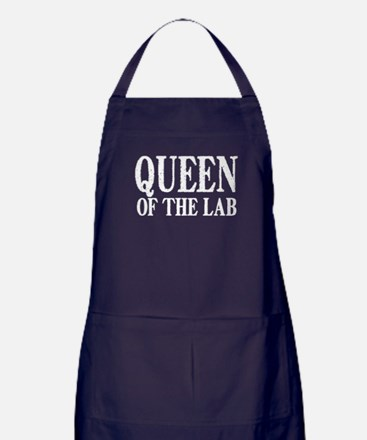 Queen of the Lab Apron (dark)