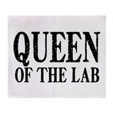 Queen of the Lab Throw Blanket
