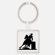 Barrel Racing Square Keychain