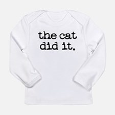 the cat did it Long Sleeve T-Shirt