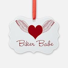 Biker Babe Wings Ornament
