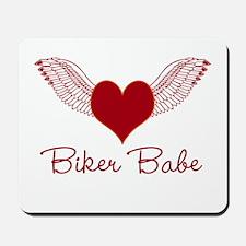 Biker Babe Wings Mousepad