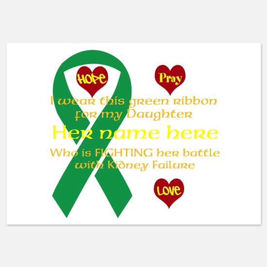 Hope Pray Love Kidney Ribbon Invitations