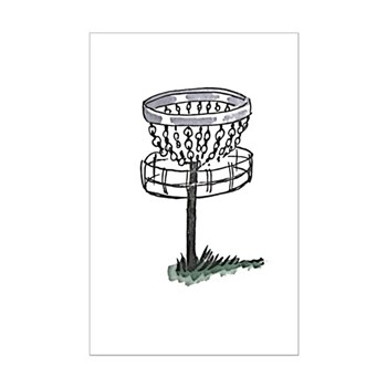 Disc Golf Basket Mini Poster Print
