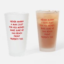 gold digger Drinking Glass