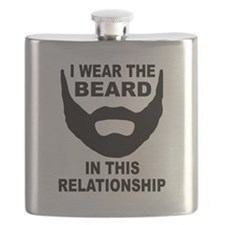 I Wear The Beard Flask