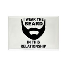 I Wear The Beard Rectangle Magnet