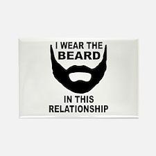 I Wear The Beard Rectangle Magnet (10 pack)