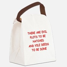 evil Canvas Lunch Bag