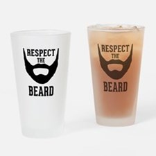 Respect The Beard Drinking Glass