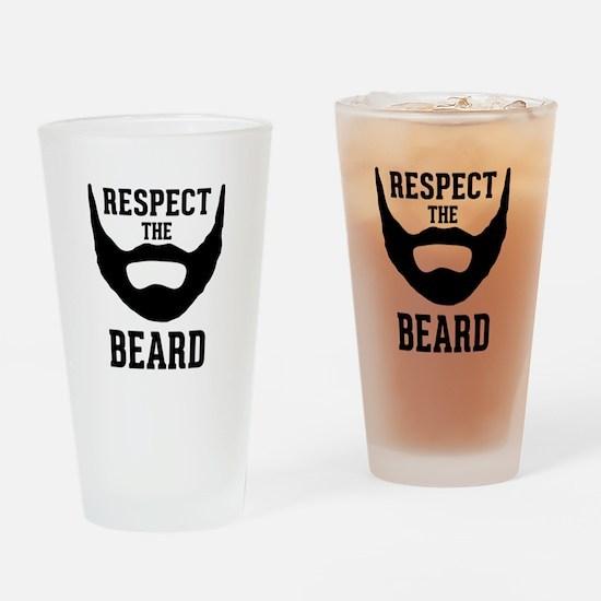 Respect The Beard Drinking Glass