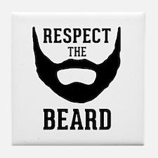 Respect The Beard Tile Coaster