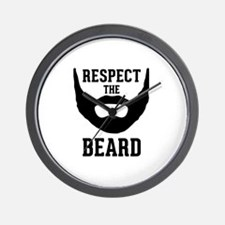Respect The Beard Wall Clock
