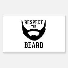 Respect The Beard Sticker (Rectangle)