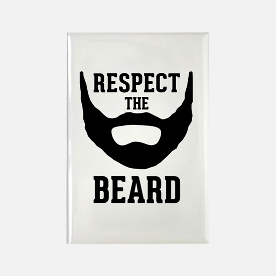 Respect The Beard Rectangle Magnet