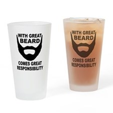 Beard Responsibility Drinking Glass