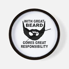 Beard Responsibility Wall Clock