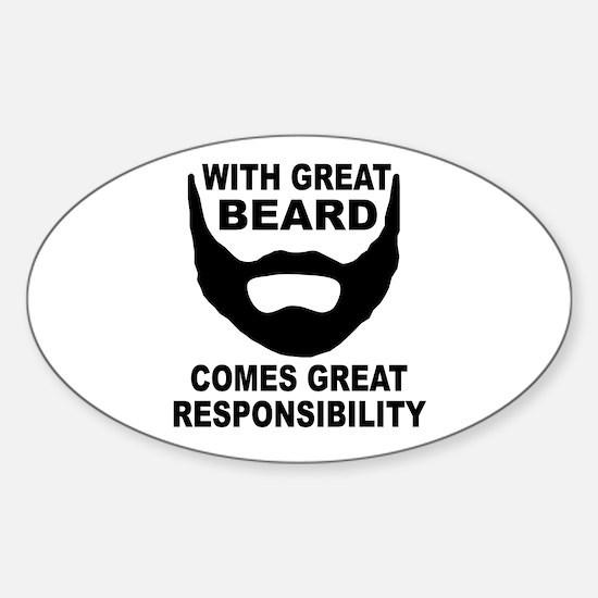 Beard Responsibility Sticker (Oval)