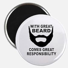 "Beard Responsibility 2.25"" Magnet (100 pack)"