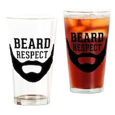 Beard Respect Drinking Glass